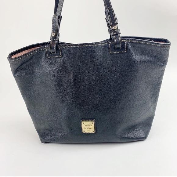Dooney & Bourke Handbags - Dooney & Bourke Black Leather Tote Shoulder Bag
